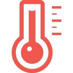 温度計のマーク 発熱