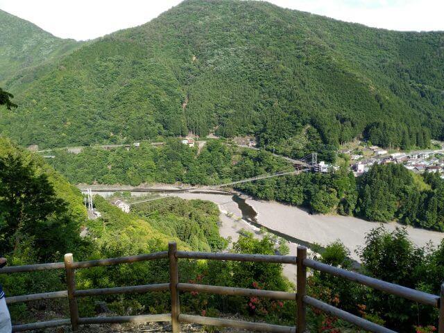 谷瀬の吊り橋 展望台1