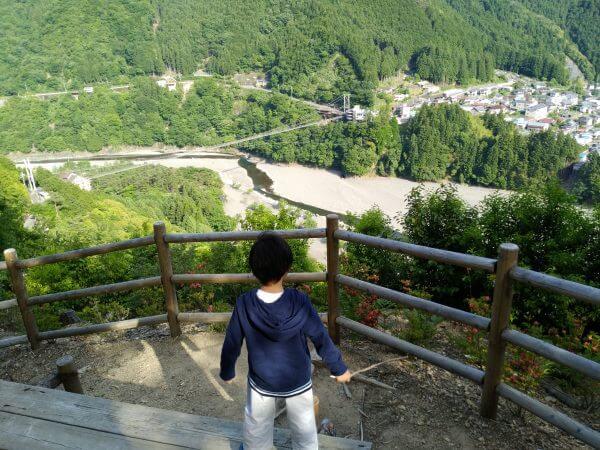 谷瀬橋 展望台